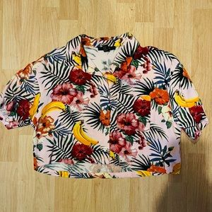 FOREVER 21 HAWAIIAN BANANA SHIRT SMALL